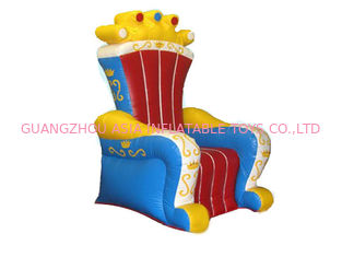 China Alquiler inflable certificado Ce de rey Chair Sofa Furniture For fábrica