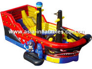 Creative Inflatable Pirate Ship Funland, Inflatable Funcity For Children Games